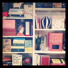 Bookshelf styling via @Sara Kate Studios