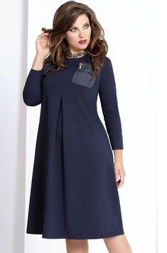Платье VITTORIA QUEEN, темно-синий (модель 6523) — Белорусский трикотаж в  интернет 0a5b7aa92bb