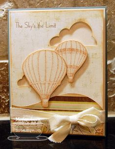 Sky's the Limit by deborahmegan - Cards and Paper Crafts at Splitcoaststampers Cricut Cards, Stampin Up Cards, Scrapbook Paper Crafts, Scrapbook Cards, Scrapbooking, Air Balloon, Balloons, Card Making Techniques, Masculine Cards
