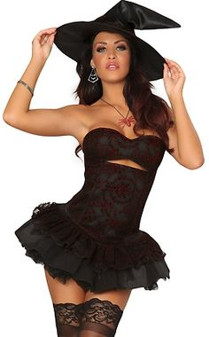 Sexy Witch Halloween Costume for Women next costume???? hmm.