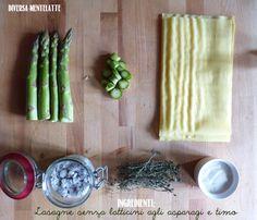 Lasagne #senzalatticini agli #asparagi e timo!