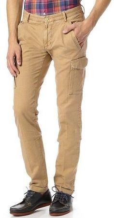 Gant Rugger Men's Canvas Cargo Slim Tapered Cuffed Pants in Beige 30 34 NWT $175 #GantRugger #Cargo