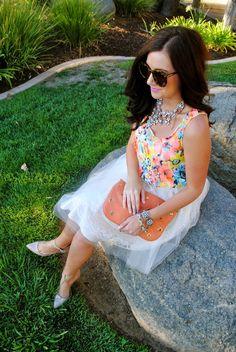 A Darling Dream Blog {ShopbellaC Neon & Tulle Skirt}