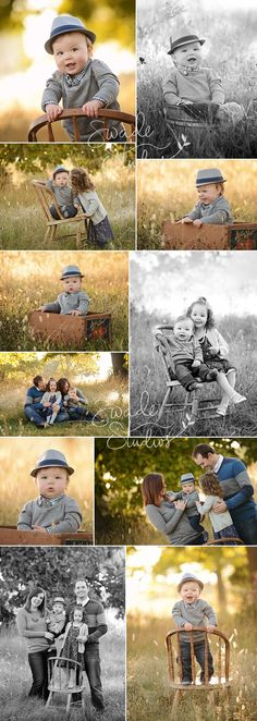 Kansas City 1st Birthday Photographer, Swade Studios www.swadestudiosp... outdoor first birthday photo session, fedora, family, 1 year old boy