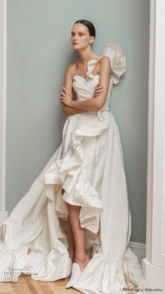 Country Wedding Dresses Fitted Trend Of The Year: 24 High Low Wedding Dresses high low wedding dresses simple modern sleveless franchesca miranda Pink Wedding Dresses, Country Wedding Dresses, Cheap Wedding Dress, Boho Wedding Dress, Gown Wedding, Wedding Bride, Wedding Attire, Ball Dresses, Ball Gowns