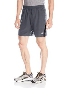 "New Balance Men's Accelerate 7"" Shorts, Thunder, Medium - http://www.exercisejoy.com/new-balance-mens-accelerate-7-shorts-thunder-medium/fitness/"