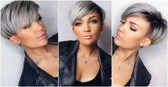 Styles de cheveux courts gris moderne ! Ces dames ont choisi un Style tendance cheveux gris ! ** Lequel pensez-vous est le plus beau ?