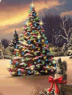Pretty Things In Life Christmas Tree Gif, Christmas Scenes, Christmas Past, Christmas Wishes, Christmas Pictures, Christmas Holidays, Gif Noel, Christmas Live Wallpaper, Hello Kitty Christmas