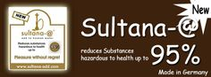 Adding sultana-@ to Hookah / Shisha-water leads to a significant reduce of harmful and cancer causing substances and compounds without changing the enjoyable taste of Hookah / Shisha tobacco.