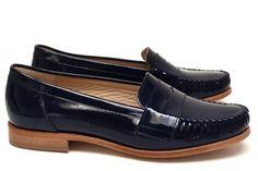 Chaussures Femme Mocassins Printemps Eté 2015 Maurice Manufacture BAVON Verni encre