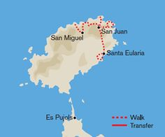 Self-guided, two-centre walking holiday in the Balearic Islands. Es Pujols, Local Map, Ibiza Formentera, Walking Holiday, Balearic Islands, White Sand Beach, Places To Go, Spain, Beautiful