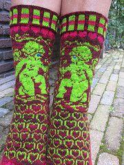 Ravelry: Cupid pattern by Mariann An Fair Isle Knitting, Knitting Socks, Knit Socks, Knitting Ideas, Crochet Stitches, Knit Crochet, 4 Ply Yarn, Fair Isle Pattern, Cupid
