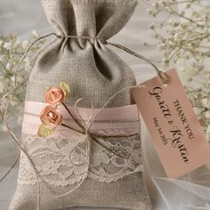 Favor Bags & Tags #4lovepolkadots #favorbag #lace #favorbags