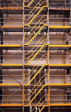 Yellow Scaffolding in Berlin by Majd Khaldi