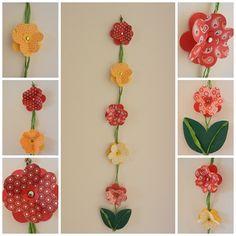 Ablakom: Tavaszi virágos ablakdíszek... Easter Projects, Crochet Necklace, Drop Earrings, Crafts, Color, Home Decor, The Creation, Creativity, Art