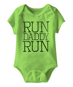 Look what I found on #zulily! Key Lime 'Run Daddy Run' Bodysuit - Infant #zulilyfinds