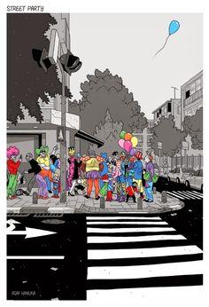 fiesta ilustraciones