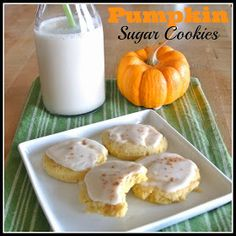 Mom, What's For Dinner?: Glazed Pumpkin Sugar Cookies