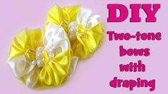DIY two-tone bows with draping / Kanzashi tutorial