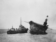 HMS Ark Royal sinking 2 - HMS Ark Royal (91) — Wikipédia