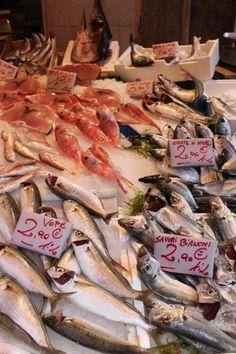 Fish display in Capo Market, Palermo