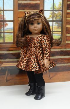 Wild Cat cat costume for American Girl doll by CupcakeCutiePie