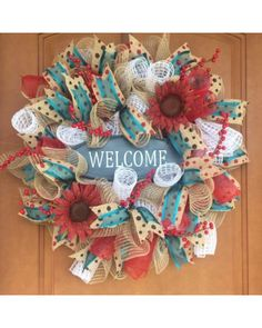 Welcome Wreath by Fargo Door Decor |  Photo Contest - CraftOutlet.com