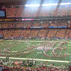 alabamafbl's photo: The Million Dollar Band forms the script A during pregame performance. #RollTide