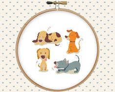 Dog cross stitch pattern pdf - instant download - animal cross stitch - easy cross stitch pattern