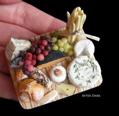 The Mini Food Blog: Fruits  Cheese ~ After Dark Miniatures