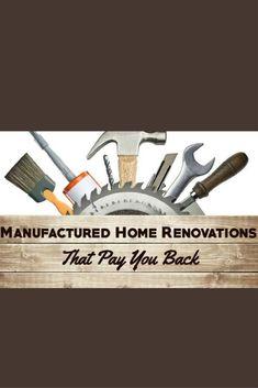 Smart renovation ideas! Mobile Home Redo, Mobile Home Repair, Mobile Home Makeovers, Mobile Home Living, Home And Living, Mobile Home Renovations, Home Remodeling, Manufactured Home Renovation, Home Improvement