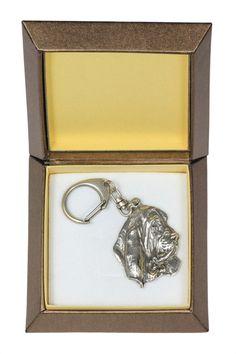 NEW Basset Hound dog keyring key holder in by ArtDogshopcenter