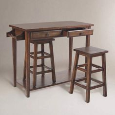 Perfect for small spaces! Counter height table, stow-away stools, towel bar on end of table comes in handy. #ad