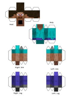 Minecraft Steve Costume: 6 Steps (with Pictures) Steve Minecraft, Minecraft Sword, Minecraft Blocks, Minecraft Skins, Minecraft Costumes, Minecraft Crafts, Minecraft Printable, Minecraft Halloween Costume, Minecraft Templates
