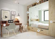 Комната площадью 14 кв.м для тинэйджера: 10 дизайнерских ремарок - 1
