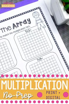 Multiplication Practice, Multiplication Strategies, Math Strategies, Math Resources, Math Activities, Second Grade Math, 4th Grade Math, 3rd Grade Classroom, Math Classroom