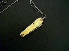 Vintage Pocket Knife Necklace by thedepo on Etsy, $22.00