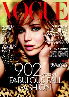 Jennifer Lawrence bajo el lente de Mario Testino para September 2013 issue de Vogue US
