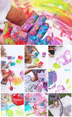 Try this messy process art project with the whole family! Creative Activities For Kids, Creative Kids, Toddler Activities, School Art Projects, Fun Projects, Babble Dabble Do, Curious Kids, Kids Laughing, Strong Family