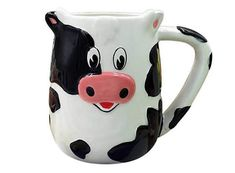 Cute cartoon dairy cow ceramic mug - FeelGift