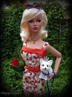 Poppy Parker doll and dog