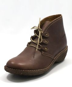 Take a look at this Groundhog Dark Brown Desert Boot by FLY London & groundhog on #zulily today!