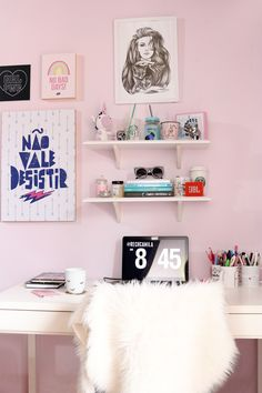 Tour pelo home office @rechcamila #decor