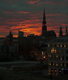 Sunset in Riga - Latvia