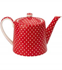 red teapot--would love to see the whole set...creamer and sugar bowl