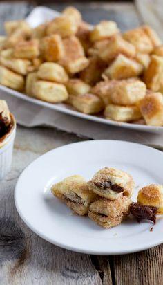 Churro Bites with Chocolate Dulce de Leche Dip