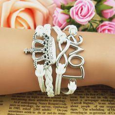 Wrap Bracelets – custom bracelet jewerly country crown women wrap – a unique product by charmbracelet on DaWanda