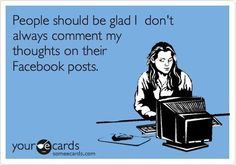 YES, YES, YEEESSSS. So many times I write a comment, think about it and then delete it before posting. Maybe I should change my ways and just post them.