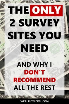 Taking online surveys for money is a legitimate way to make extra cash, but which paid survey sites are the best? I argue that these 2 survey sites are the absolute best of the best to make money online, from home, in your pajamas :) - Earn Money at home Legit Paid Surveys, Surveys That Pay Cash, Online Surveys For Money, Survey Sites That Pay, Online Jobs, Online Careers, Earning Money, Online College, Online Courses