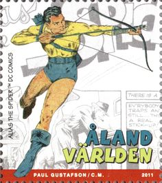 "Åland International mail ""Superheroes"" 2011. ""Alias the Spider"" by Paul Gustafson. D.C. Comics"